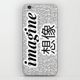 imagine - Ariana - lyrics - imagination - white black iPhone Skin