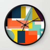 geo Wall Clocks featuring Geo by Mr and Mrs Quirynen