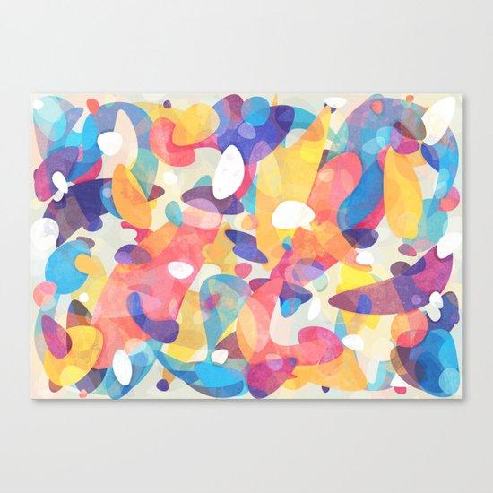 Chaotic Construction Canvas Print
