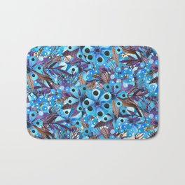 Exactly Where They'd Fall (Floral Pattern) Bath Mat