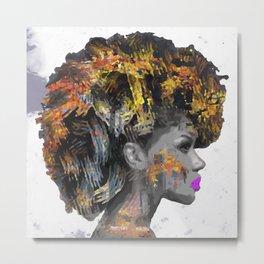 Afro-Girl Metal Print