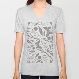 Birds & Blooms Patterns Unisex V-Neck