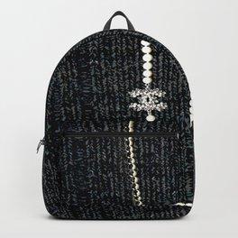 vintage pearls necklace Backpack