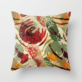 Abstract Holidays 2 Throw Pillow