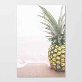 Pineapple Beach Canvas Print