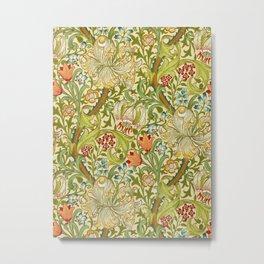 William Morris Golden Lily Vintage Pre-Raphaelite Floral Art Metal Print