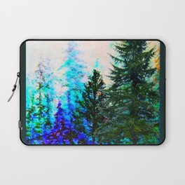 SCENIC BLUE MOUNTAIN GREEN PINE FOREST Laptop Sleeve