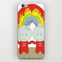 equality iPhone & iPod Skins featuring Equality  by The Ghost and Robot