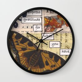 Express Gratitude Wall Clock