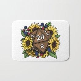 Sunflower D20 Tabletop RPG Gaming Dice Bath Mat