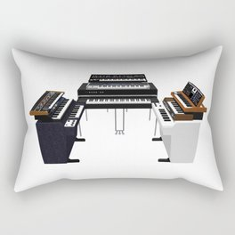 Vintage Keyboards / Synthesizers Rectangular Pillow