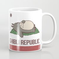ghibli Mugs featuring Ghibli Republic by Li.Ro.Vi
