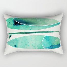 Watercolor Surfboards Rectangular Pillow