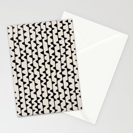 Triangles / Black & White Pattern Stationery Cards