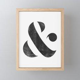 Ampersand V3 Framed Mini Art Print