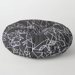 Tracing Faces  Floor Pillow