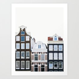 Holland Homes - Amsterdam Travel Photography Art Print