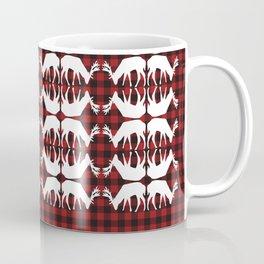 Oh, deer! in lumberjack plaid Coffee Mug