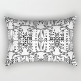 Bauhaus Buildings- black and white pattern art print Rectangular Pillow