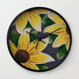 Handmade Sunflower Painting Wall Clock