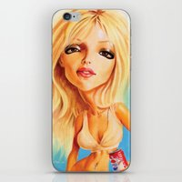 britney spears iPhone & iPod Skins featuring Britney Spears by Patrick Dea