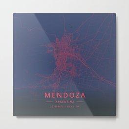 Mendoza, Argentina - Neon Metal Print