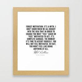 11   | Mel Robbins Quotes | 190802 Framed Art Print