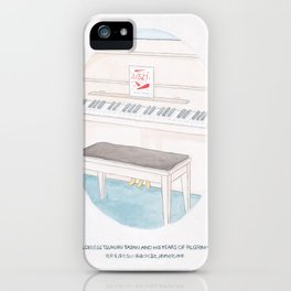 Haruki Murakami's Colorless Tsukuru Tazaki and His Years of Pilgrimage Book Cover iPhone Case