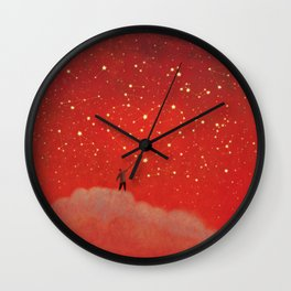 Constellation - Red Wall Clock