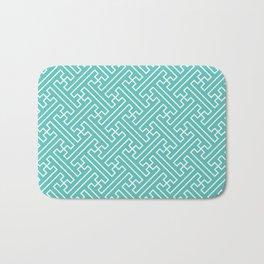 Lattice - Turquoise Bath Mat
