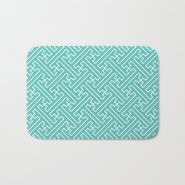 Lattice - Turquoise Bath Mat