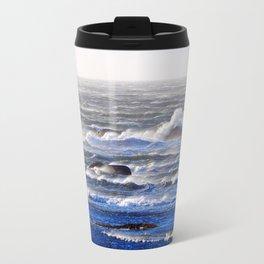 Wind Blown Stormy Seas Travel Mug