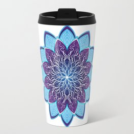Mandala Flower Floral Ornament Travel Mug