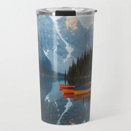 Moraine Lake Canoes Travel Mug