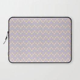 Chevron flowers - Orchid Hush Laptop Sleeve