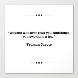 Truman Capote Quote Canvas Print