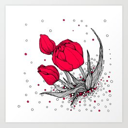 More tulips! Art Print
