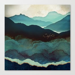 Indigo Mountains Canvas Print