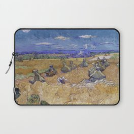 Vincent van Gogh - Wheat Fields with Reaper, Auvers Laptop Sleeve