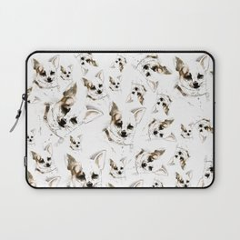 Chihuahua watercolor pattern Laptop Sleeve