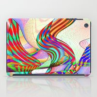 techno iPad Cases featuring techno-doodle by David  Gough