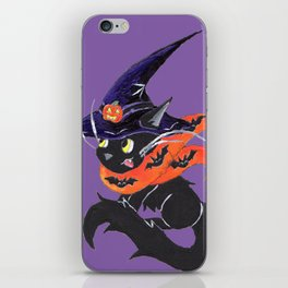 Witch City Kitty iPhone Skin