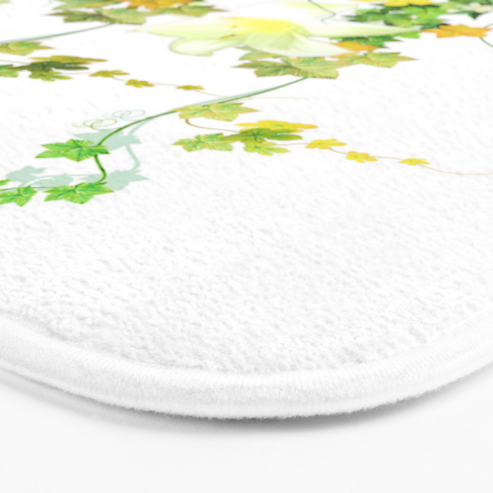Watercolor Ivy Bath Mat