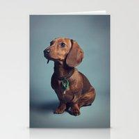 dachshund Stationery Cards featuring Dachshund by RikkiB