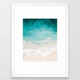 Maui Beach Drone Photo Framed Art Print