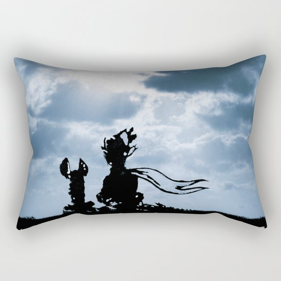 The little prince and the fox - dream version blue - quote Rectangular Pillow