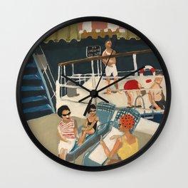 Retro Pool Painting Wall Clock