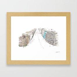 A street Framed Art Print