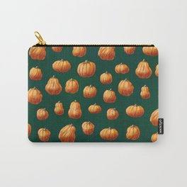 Illustrated Pumpkin Pattern Carry-All Pouch