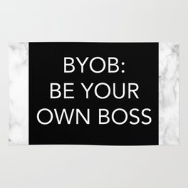 BYOB: BE YOUR OWN BOSS Rug